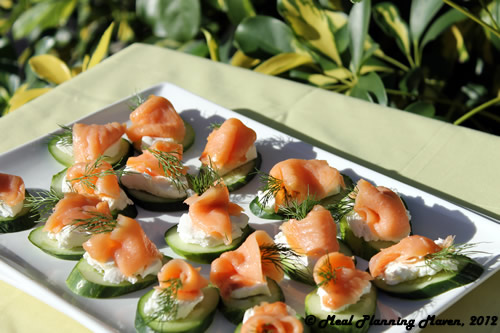 Smoked Salmon & Cucumber Canapes Recipe